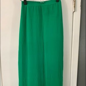 Forever 21 Maxi Skirt size XS emerald green